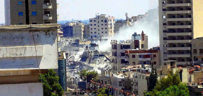 Bomb blast kills 14 at mosque in Syria's Homs