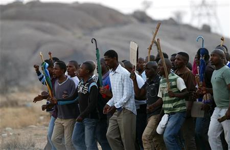 S.Africa's AMCU union marches, no end to platinum strike