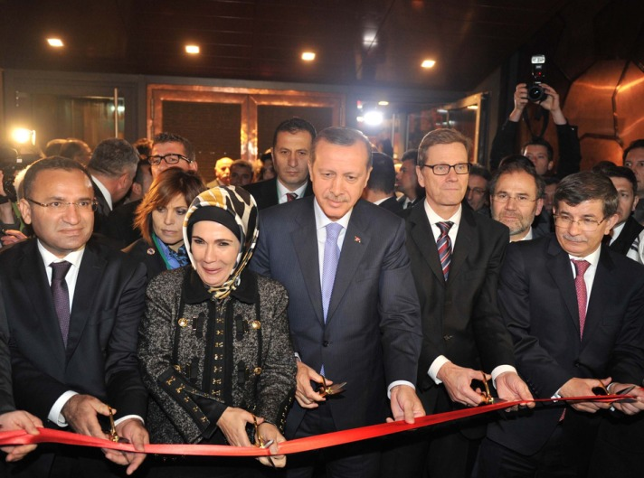 Erdogan opens largest Turkish foreign mission in Berlin