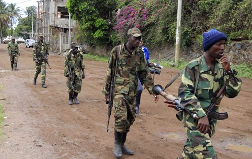 Rebels retreat from eastern Congo base