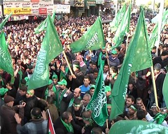 Hamas supporters rally in West Bank after unity pact