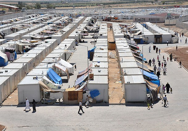 Syrians will elect village chief in container city