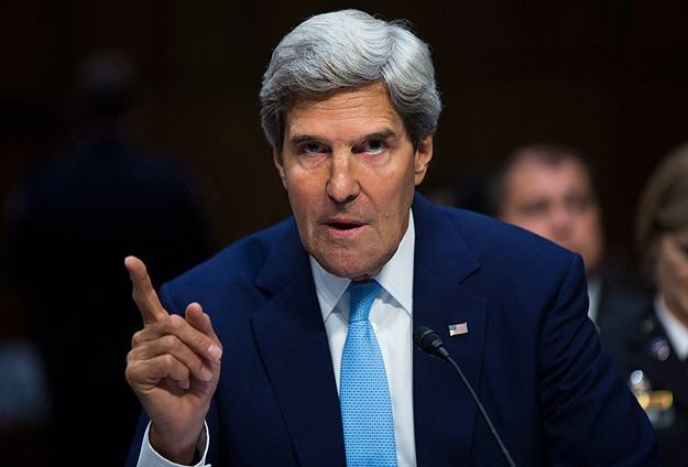 Kerry, aides checked by security at Egyptian presidential palace