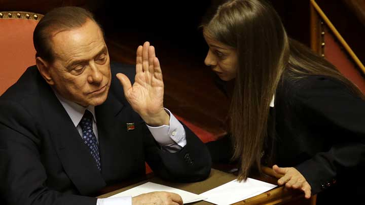 Italy's Berlusconi says was forced from office by EU 'plot'