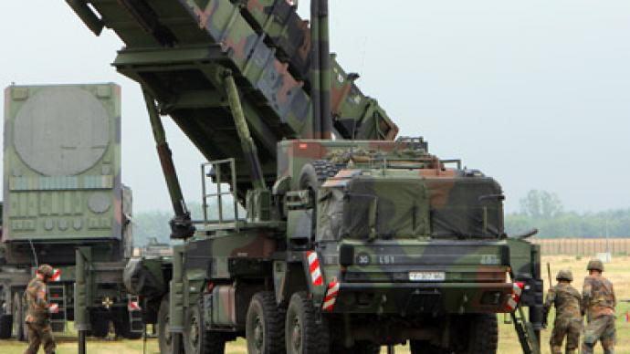 NATO Patriot air defense missiles arrive in Turkey