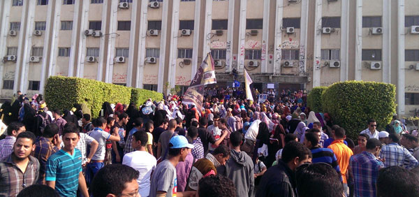 Egypt sentences 17 people to long jail terms for protests