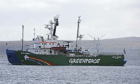 Greenpeace ship arrives at Arctic drill site- UPDATED