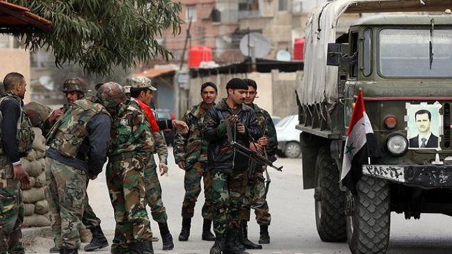 Syrian army takes town outside Damascus -UPDATED