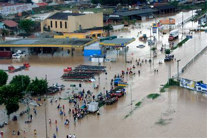 Brazil floods force more than 18,000 people from homes