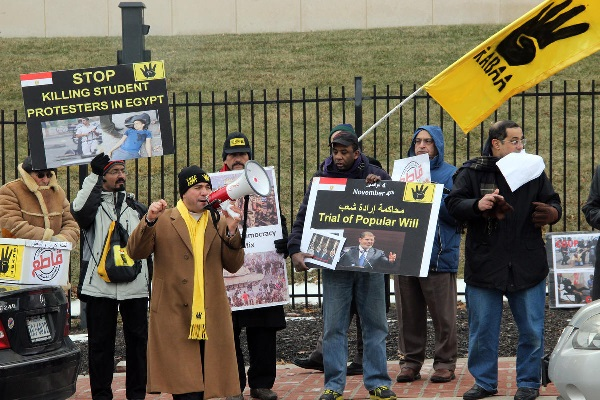 Egyptian-Americans protest constitutional referendum