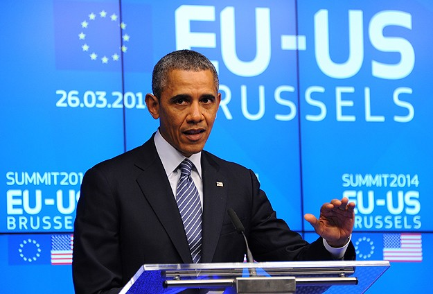 Obama says NATO must face up to Russian 'brute force'