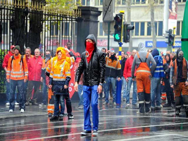 Belgian anti-austerity protests 'may spread' in Europe