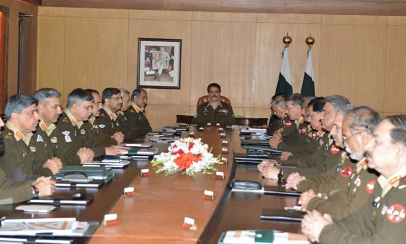 Pakistan general calls army meeting on internal threats