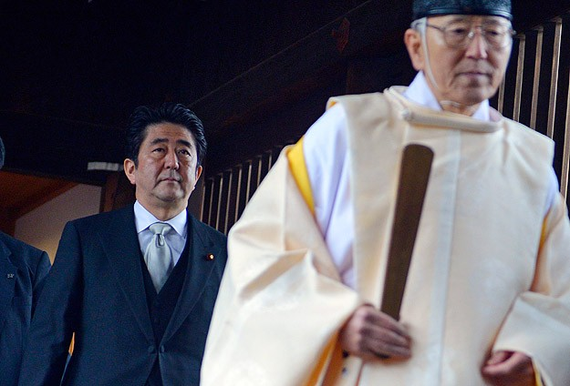 Japan PM sends offering to war dead shrine