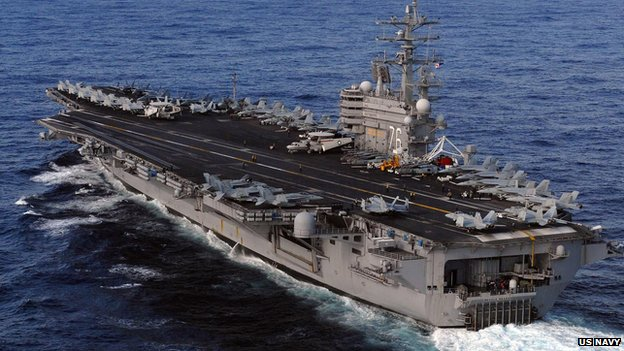 US navy ship with 550 marines on board moves into Gulf