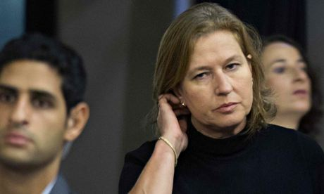Livni urges US to veto Palestinian resolution at UN