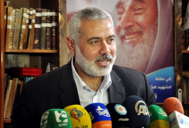 Haniyeh thanks Turkey for supporting Palestinians
