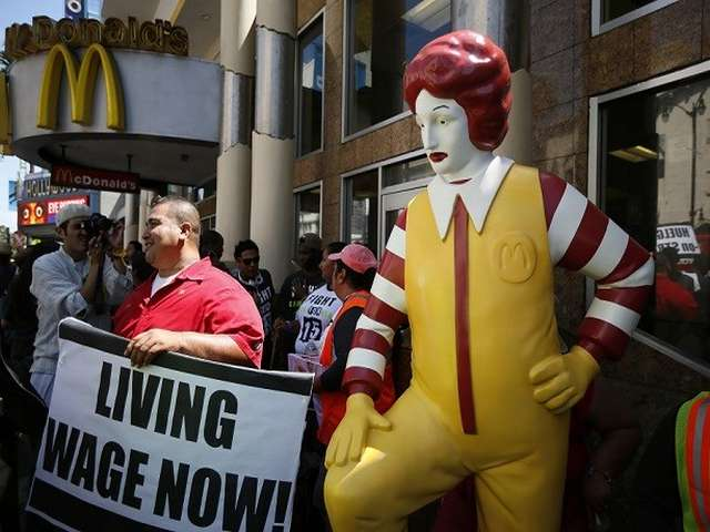 McDonald's workers protest low wages, more than 100 arrested