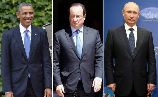 Hollande to separate Putin and Obama at D-Day meeting