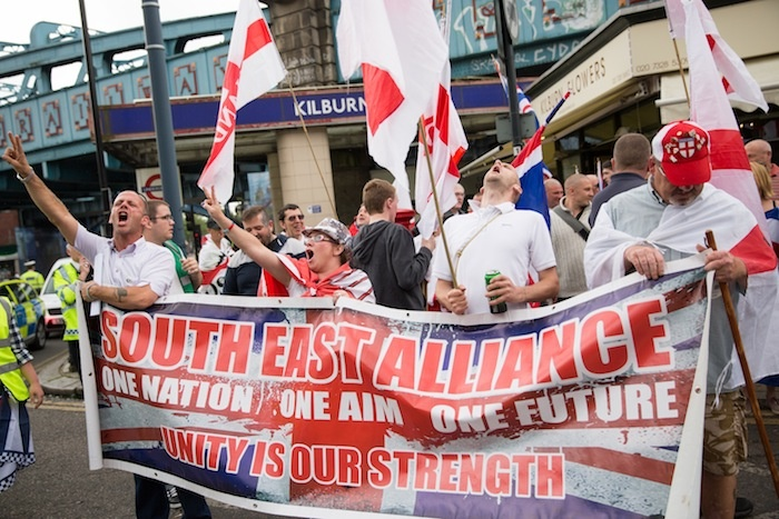 English far-right protests against Muslim Brotherhood
