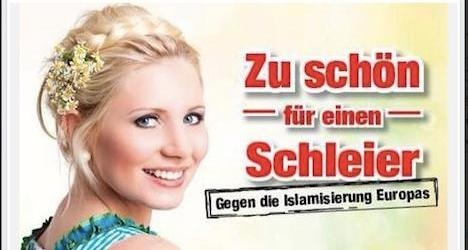 Austrian far-right party makes Islamophobic poster