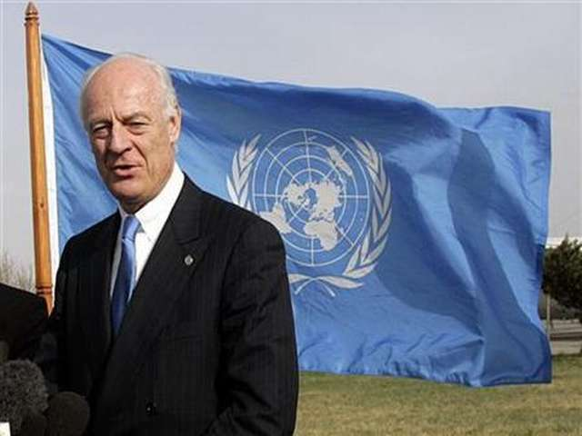 U.N. chief says de Mistura to be new Syria mediator