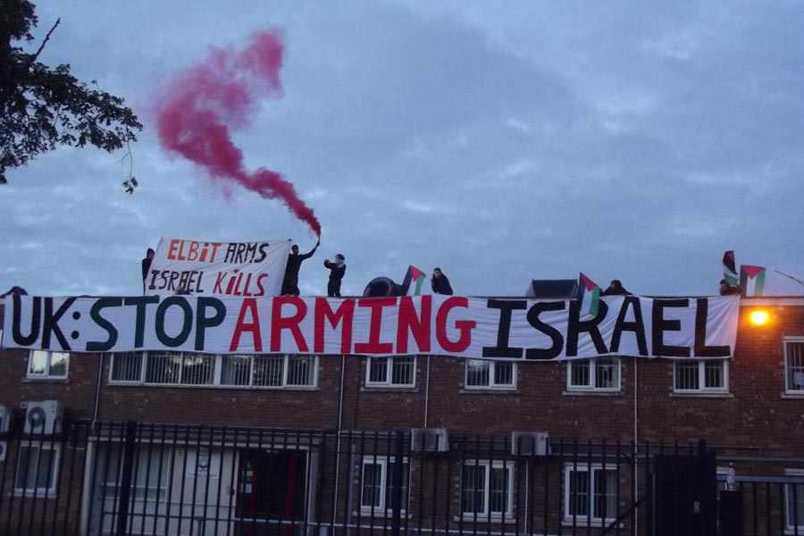 British police storm Israeli arms factory protest