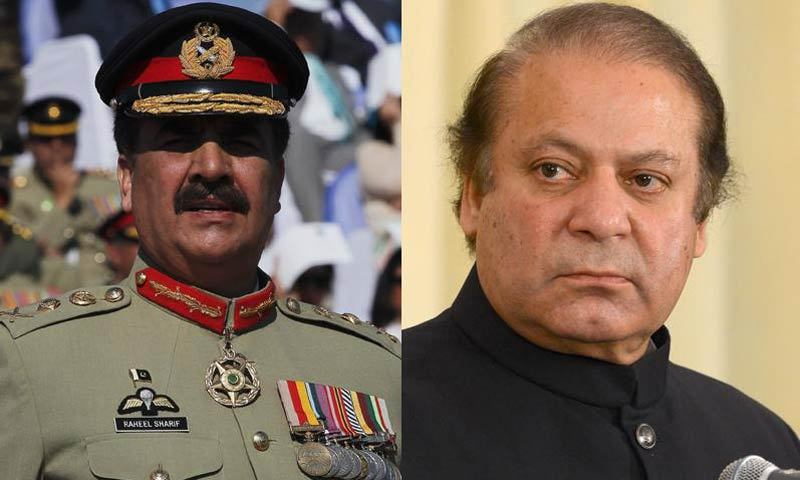 Pakistan's Sharif meets with army chief over protests