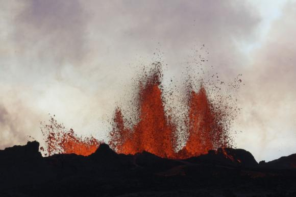 Philippines evacuates thousands as volcano glows red