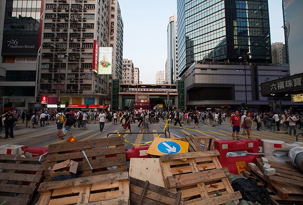 Hong Kong protesters prepare for long haul