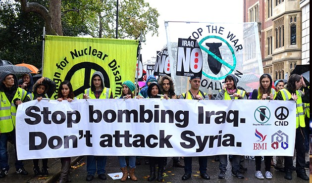 Hundreds march in anti-war protest in London