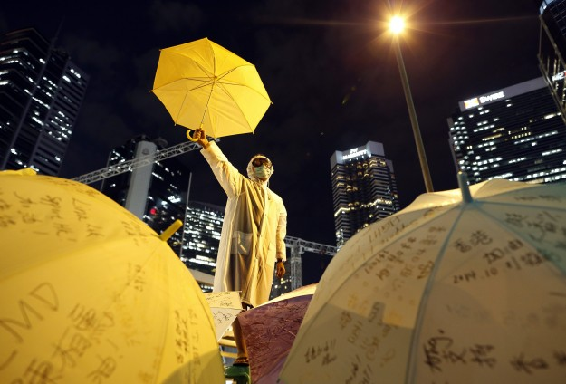 Hong Kong democracy protesters dig in for long haul
