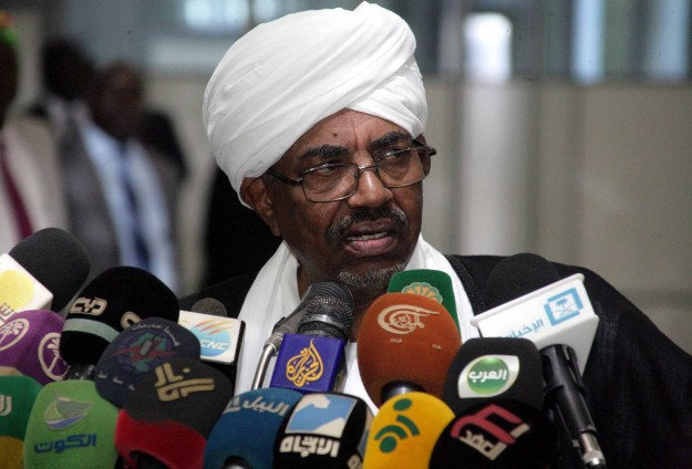 Sudan's Bashir says Darfur peacekeepers protect rebels