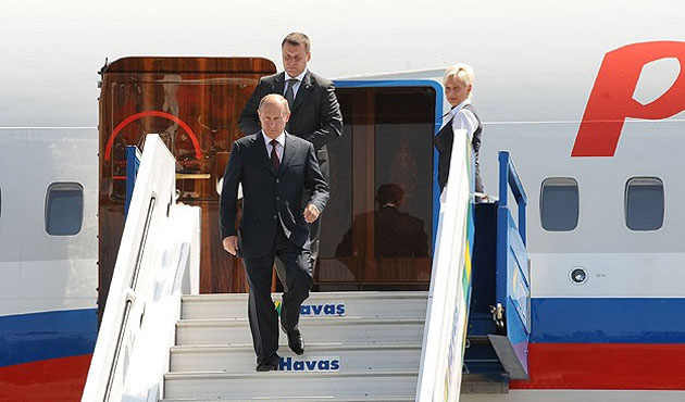 Putin arrives in Ankara to start one-day official visit