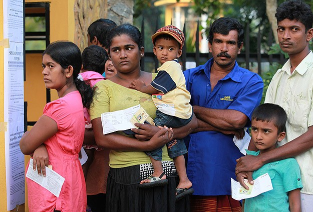 Sri Lanka edgy as voting ends in tight presidential election