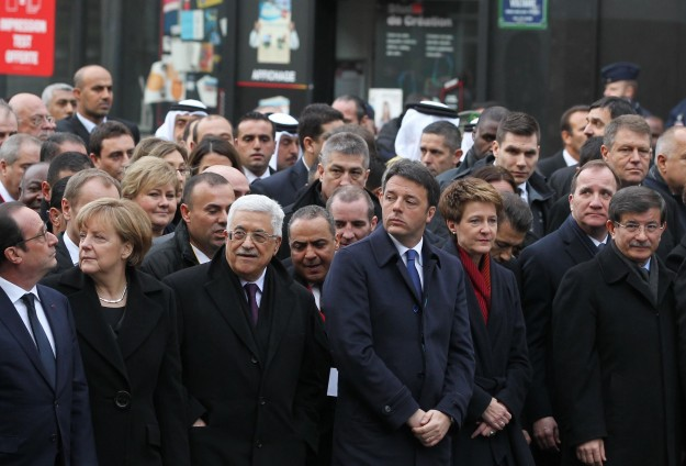 World leaders march with 3.7 million in France to honour attack victims