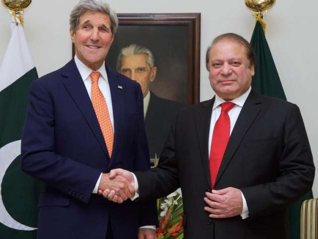 Kerry talks security in Pakistan after school massacre