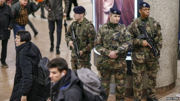 Troops take to Belgian streets to guard against attacks