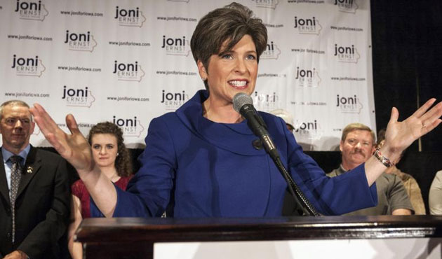 Republican newcomer Ernst says Congress ready to change U.S. direction