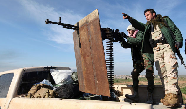 Kurdish forces fire into ISIS-controlled Mosul