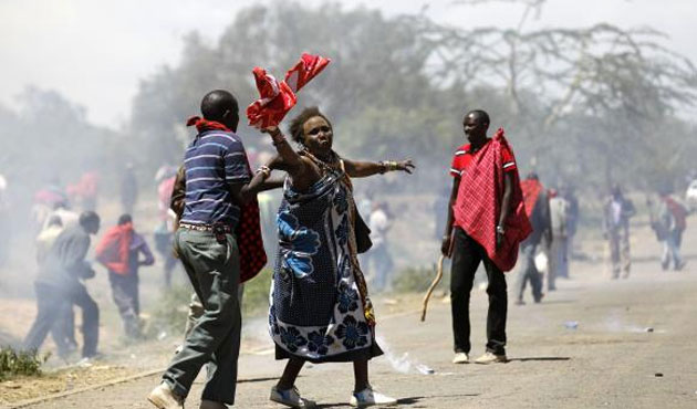 Kenyans protest murder of elections board official