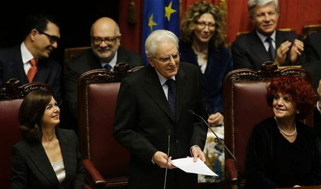 Italy's new president decries organised crime in first speech