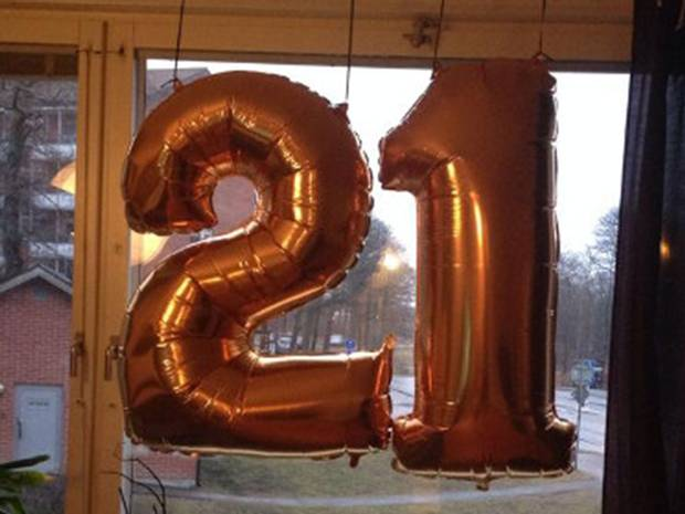 Police raid party;thought 21st balloons were ISIS Initials