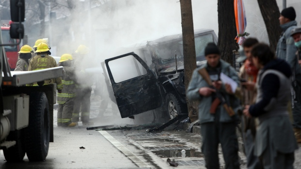 Suicide attack targets NATO convoy in Kabul