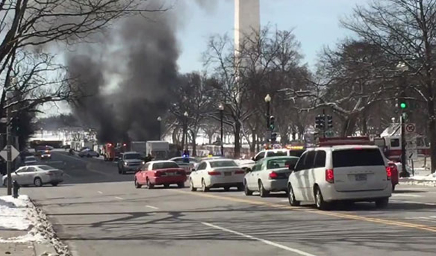 White House lockdown triggered by burning truck