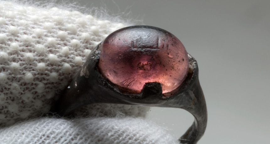 Ring with 'for Allah' inscription found in Viking grave