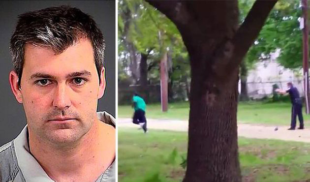 White US police charged with murder of black man