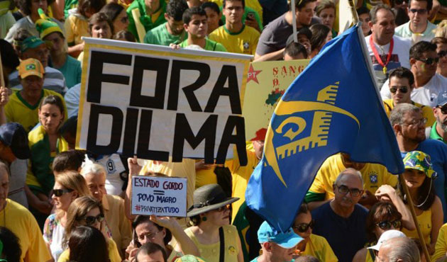 Mass protests against Rousseff gov't