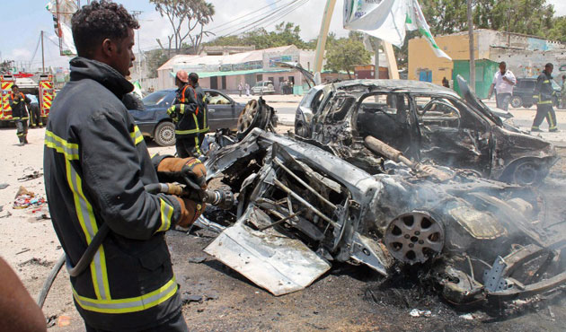 At least 4 dead in attack on Somali police building