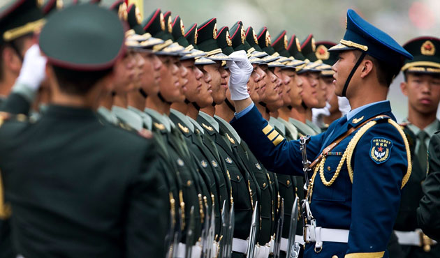 Chinese army arrived in Moscow